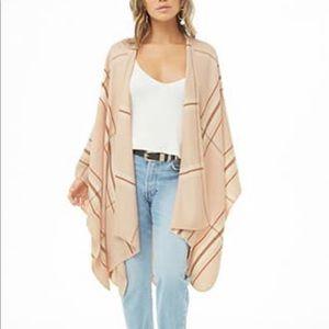 Forever 21 cream/light pink shawl